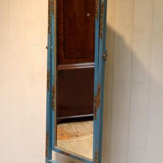 Unusual Blue Chinoiserie Cheval Mirror