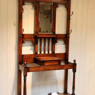 Substantial Oak Hall Stand