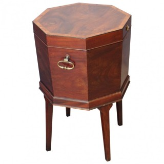 George III Inlaid Mahogany Octagonal Wine Cooler