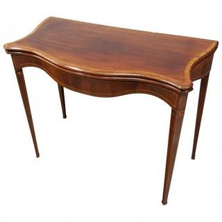 Hepplewhite Style Inlaid Mahogany Card Table