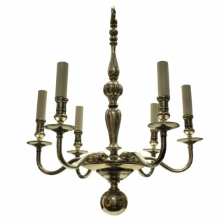 AN ENGLISH SILVER PLATED CHANDELIER
