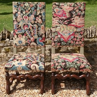 Pair of 19th Century Antique Chairs in the Jacobean Style