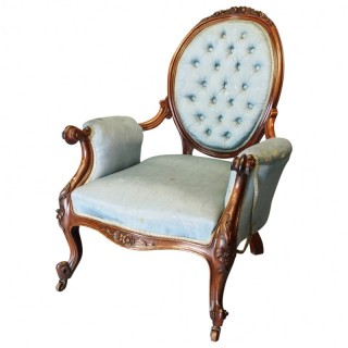 Victorian Armchair from Home of Artist John Bellany