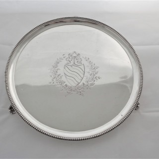 George III silver armorial salver London 1782 Robert Jones