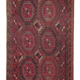 Antique Persian Turkmen Rug 92x157cm
