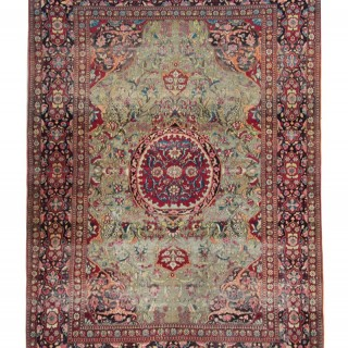Antique Floral Persian Farahan Rug 138x205cm