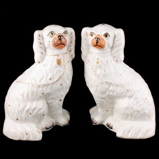Pair of Victorian Staffordshire Dogs