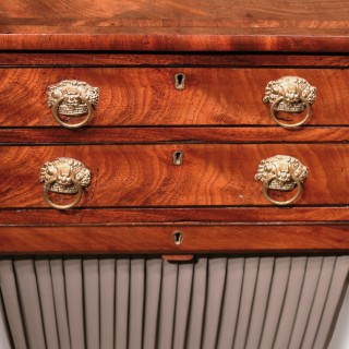 A Regency period mahogany work table