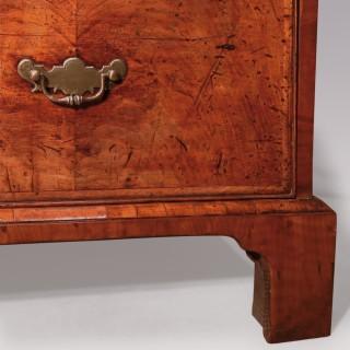 A George II period walnut tallboy