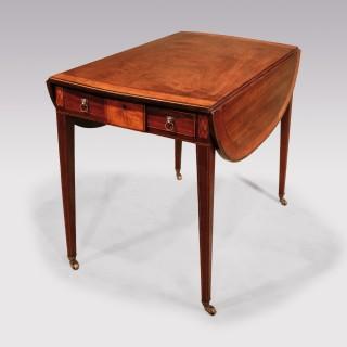 A George III period mahogany Pembroke table