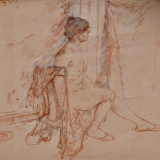 Carolyn Sergeant - Seated Nude - drawing