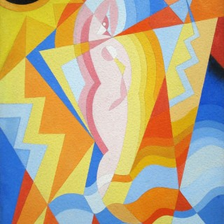 La Modella dal ciclo Tersicore  by Nicolay Diulgheroff (1901 – 1982)