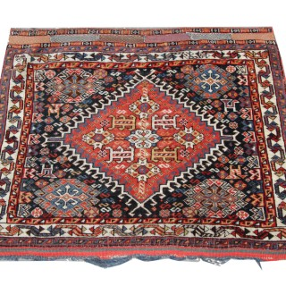 Antique Persian Quashqai Rug 51 x 61 cm