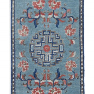 Antique Oriental Chinese Runner Rug 41 x 102 cm