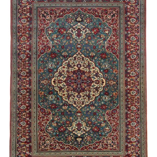 Antique Persian Kashan Rug 142 x 204 cm