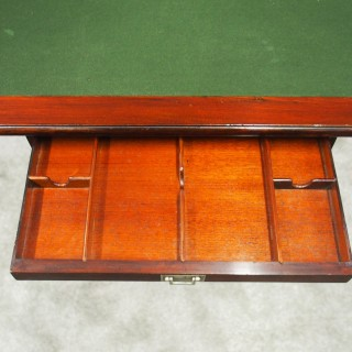Mahogany Folding Campaign Desk