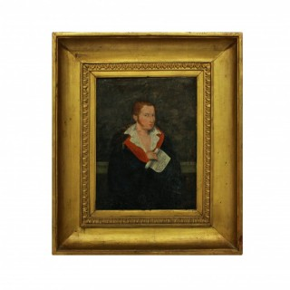 A 1ST EMPIRE OIL OF A RED HAIRED YOUNG MAN