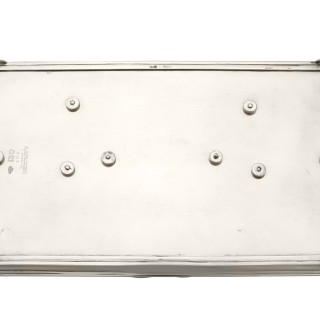 Sterling Silver Treasury Inkstand - Antique George VI
