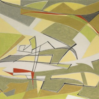 Harmonie en Vert et Gris  by  Othello Radou (1910 – 2006)