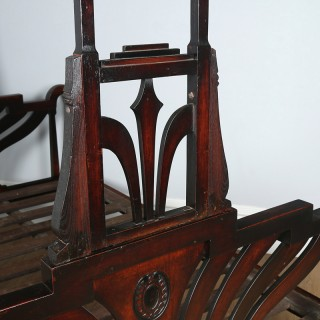 Antique 6ft Art Deco Anglo-Indian Colonial Raj Super King Four Poster Bed (Circa 1920)