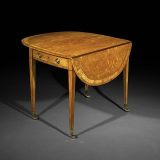 Fine George III Satinwood Pembroke Table