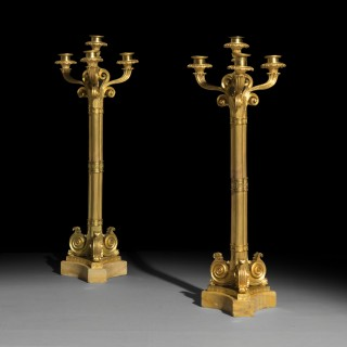 Pair of Fine Ormolu Candelabra, Attributed to Thomire