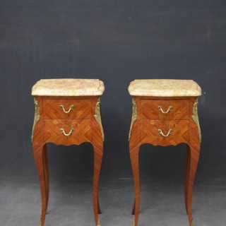 French Pair of Bedside Cabinets