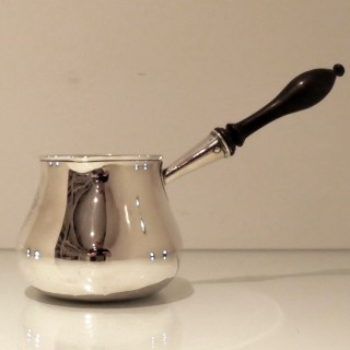 Antique George III Sterling Silver Large Brandy Pan London 1780 Charles Wright