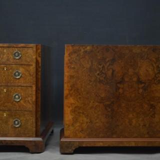 Superb Quality Victorian Burr Walnut Pedestal Desk
