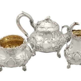 Sterling Silver Three Piece Tea Service - Antique Victorian (1847)