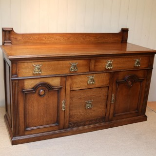 Substantial Oak Arts And Crafts Sideboard