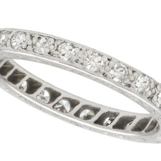 0.50ct Diamond and Palladium Full Eternity Ring - Antique Circa 1930