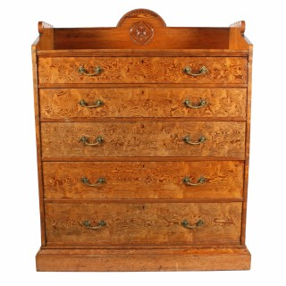 Magnificent Pitch Pine Chest by Robson & Sons Newcastle