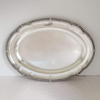 George III Silver Platter By Paul Storr
