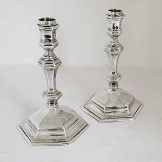 George I Silver Candlesticks
