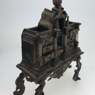 C17th Dolls House Baroque Cabinet
