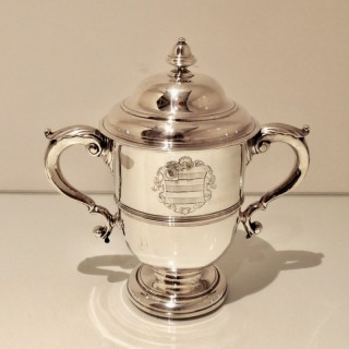 Early 18th Century Antique George II Sterling Silver Cup & Cover London 1731 John Swift