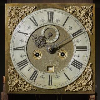 A superb William and Mary eight day burr walnut longcase clock by John Martin, c. 1695.