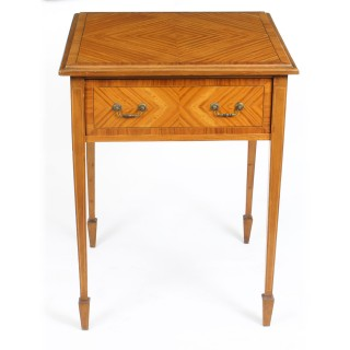 Antique Victorian Satinwood Occasional Table 19th Century