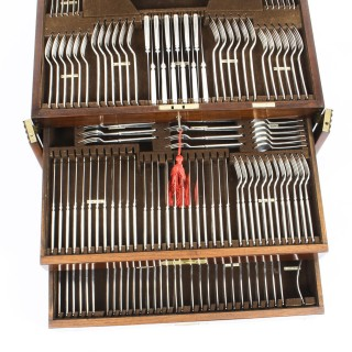 Antique Canteen x 12 Silver Plated Cutlery Set by Elkington 1930