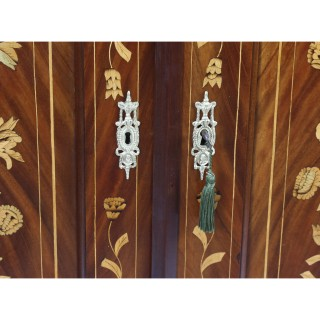 Antique Dutch Mahogany & Marquetry Wardrobe C1840 19th C