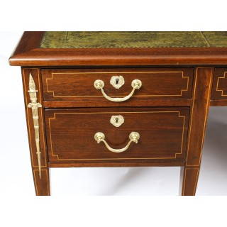 Antique Large French Empire Revival Ormolu Mounted Desk C1880 19th C