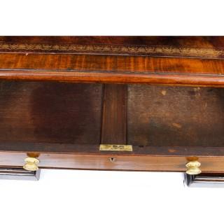 Antique George III Mahogany Pedestal Partners Desk C1820