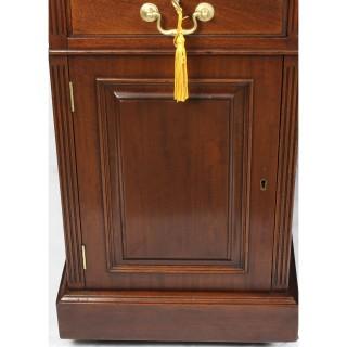 Antique 5ft Victorian Mahogany Partners Pedestal Desk 19th C