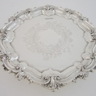 Antique Edwardian Sterling silver salver