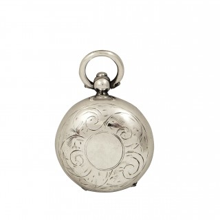 Antqiue Sterling Silver Sovereign Case 1914