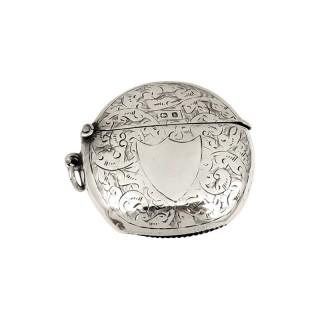 Antique Edwardian Sterling Silver Vesta Case 1907