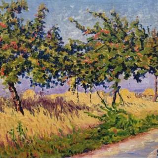 Arbres en Bordure de Route  by Gustave Cariot (1872 – 1950)