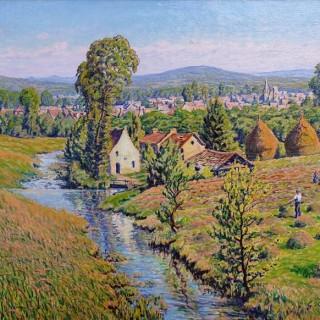 Village en Rhénanie  by  Gustave Cariot (1872 – 1950)