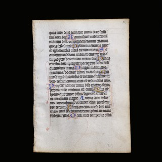 Vellum Leaf from a Medieval Book of Hours